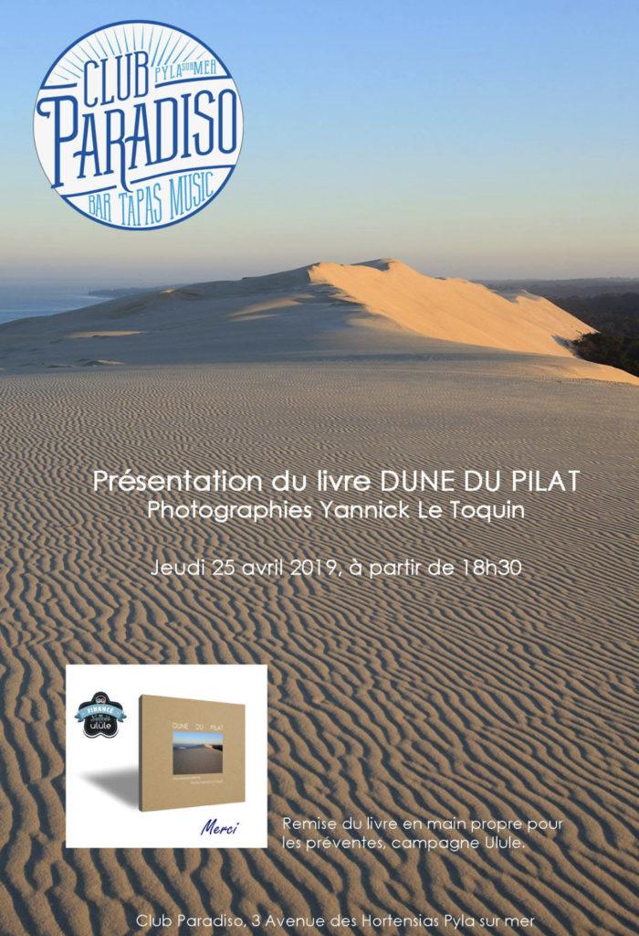 Présentation du livre «Dune du Pilat» par le Photographe Yannick Le Toquin